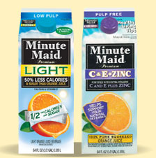 Minute Maid Premium Light and Minute Maid Premium C & E + Zinc