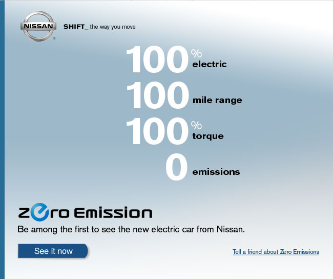 The new 100% electric car from Nissan.